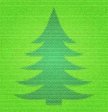 Flat design polygon style Christmas fir tree. Resembles varied colors mosaic Royalty Free Stock Photos