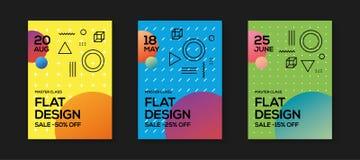 Flat Design Poster Templates royalty free illustration