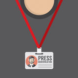 Flat Design Press Identification Royalty Free Stock Photo