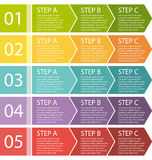 Flat Design. Process Arrows Boxes Set. Stock Photography