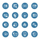 Flat Design Protection and Security Icons Set. Stock Photography