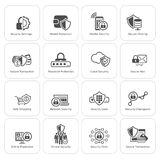 Flat Design Protection and Security Icons Set. Royalty Free Stock Photo