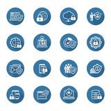 Flat Design Protection and Security Icons Set. Royalty Free Stock Photography