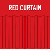 Flat Design Red Curtain Royalty Free Stock Photography