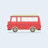 Flat Design Red Van. Stock Image