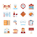 Flat Design Restaurant Icons Stock Photos