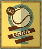 Flat design. Retro tennis poster Stock Photos