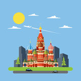 Flat design of Russia castle Royalty Free Stock Photo