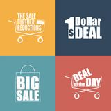 Flat design sale discount background Royalty Free Stock Image
