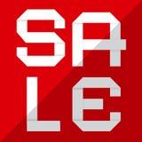 Flat Design Sale Vector Paper Cut Title Royalty Free Stock Photos