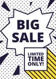 Flat design sale website banner template Stock Images