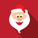 Flat design santa claus face with happy and funny emotions - vec Royalty Free Stock Photography