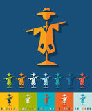 Flat design. scarecrow Royalty Free Stock Images