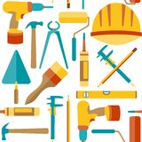 Flat design. Seamless pattern of house repair Stock Photography