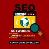 Flat design of search optimization Royalty Free Stock Photos