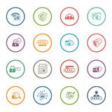 Flat Design Security and Protection Icons Set. Stock Images