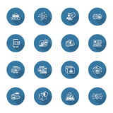Flat Design Security and Protection Icons Set. Royalty Free Stock Image