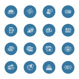 Flat Design Security and Protection Icons Set. Royalty Free Stock Photography