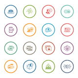 Flat Design Security and Protection Icons Set. Royalty Free Stock Photos