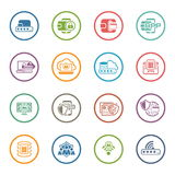 Flat Design Security and Protection Icons Set. Stock Photo