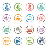 Flat Design Security and Protection Icons Set. Stock Image