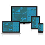 Flat, design, set, analytics, concepr, clip art, elements Royalty Free Stock Image