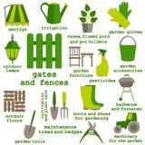 Flat design set of gardening tool icons Royalty Free Stock Photos