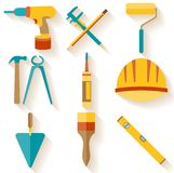 Flat design. Set of house repair icons Royalty Free Stock Photography