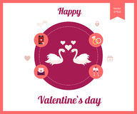 Flat design set for icons for Valentines day Stock Images