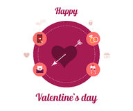 Flat design set for icons for Valentines day Stock Image