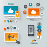 Flat design set for marketing Stock Image