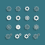 Flat design setting icon set, vector eps10 Royalty Free Stock Images