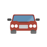 Flat design simple car vector illustration. Design Stock Images