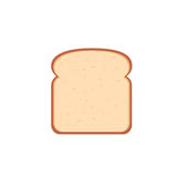 Flat design single bread slice icon Royalty Free Stock Photo
