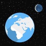 Flat design space illustration Royalty Free Stock Image