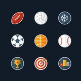 Flat design sport icons Royalty Free Stock Photography