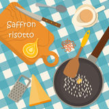 Flat design square banner of Italian traditional Royalty Free Stock Images