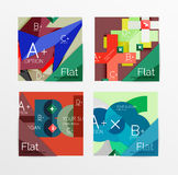 Flat design square shape infographic banner. With sample option text Royalty Free Stock Image