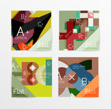 Flat design square shape infographic banner. With sample option text Stock Photography