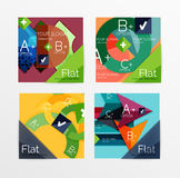 Flat design square shape infographic banner. With sample option text Stock Images