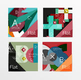 Flat design square shape infographic banner. With sample option text Royalty Free Stock Photos