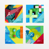 Flat design square shape infographic banner. With sample option text Stock Image