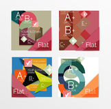 Flat design square shape infographic banner. With sample option text Stock Photos