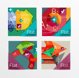 Flat design square shape infographic banner. With sample option text Royalty Free Stock Photography