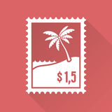 Flat design stamp Royalty Free Stock Photo