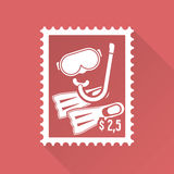 Flat design stamp Stock Image