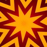 Flat design star illustration poster. Abstract orange color background header banner. Concept new. Modern stylish shapes. Stock Photo