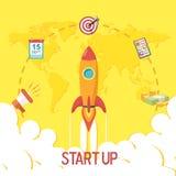 Flat design of a Start Up Concept Stock Photos