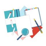 Flat design stationery Royalty Free Stock Image