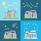 Flat design of Stonehenge UK Royalty Free Stock Images